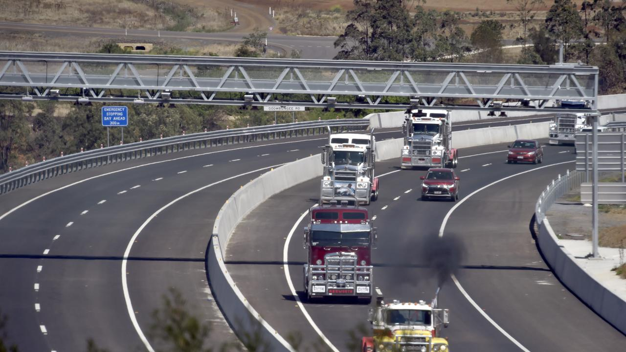 Lights on the Hill convoy head from Toowoomba to Gatton (Toowoomba Bypass from New England Highway) back in September 2019.