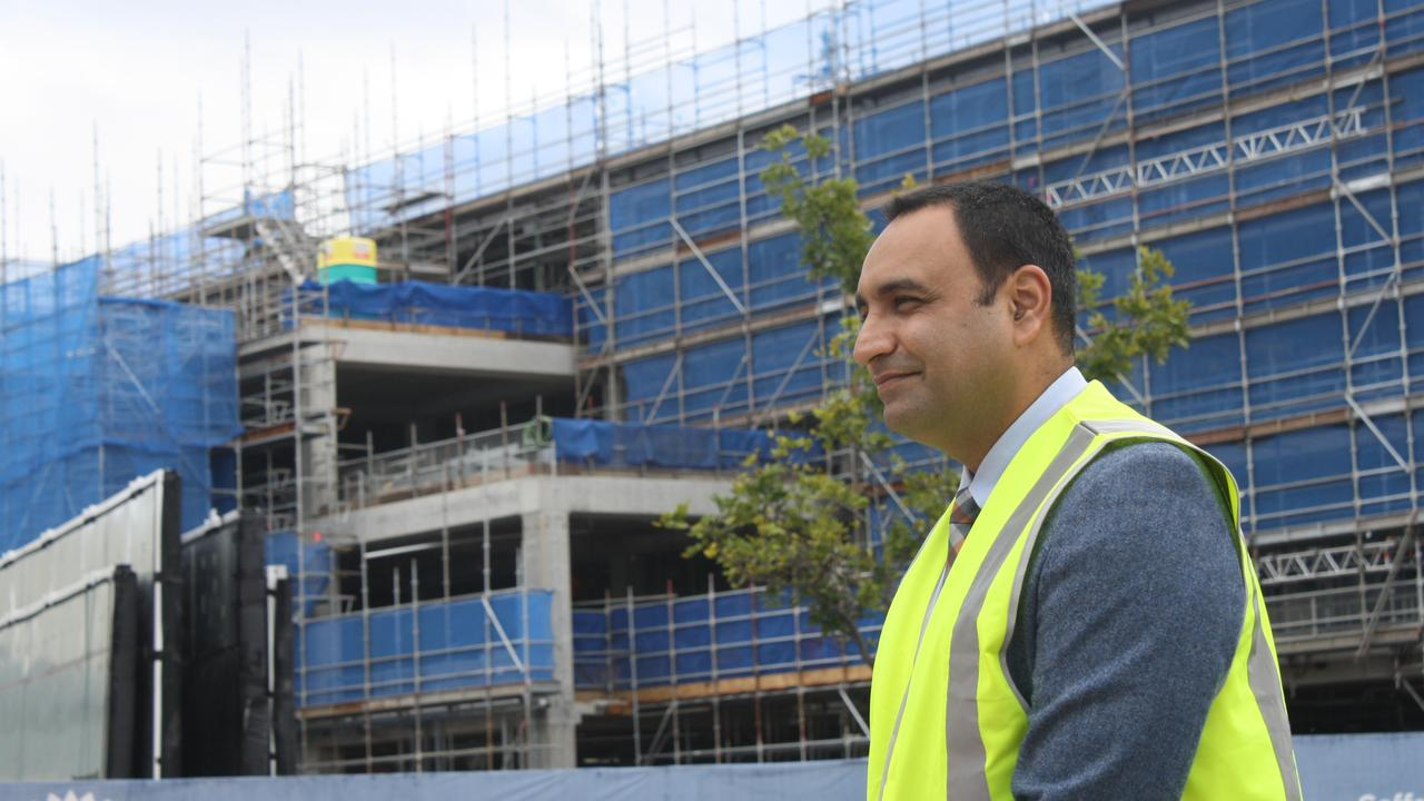 Construction on the $194m Coffs Harbour Hospital redevelopment is powering ahead as the building reaches its highest point, said Member for Coffs Harbour Gurmesh Singh.