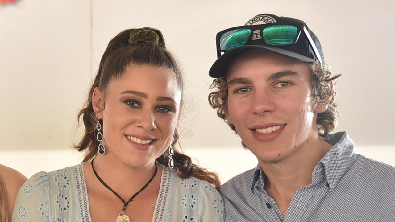 Reece Williams and his partner, Rose Cash enjoy a day at the races in the years before his death. Picture: Evan Morgan