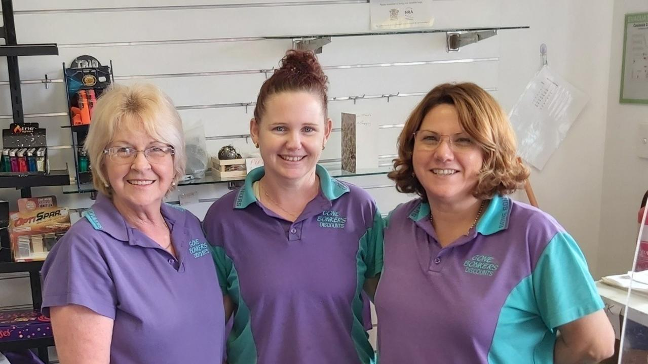 Gone Bonkers Cooloola Cove staff members Julie, Kylie and Corinna.