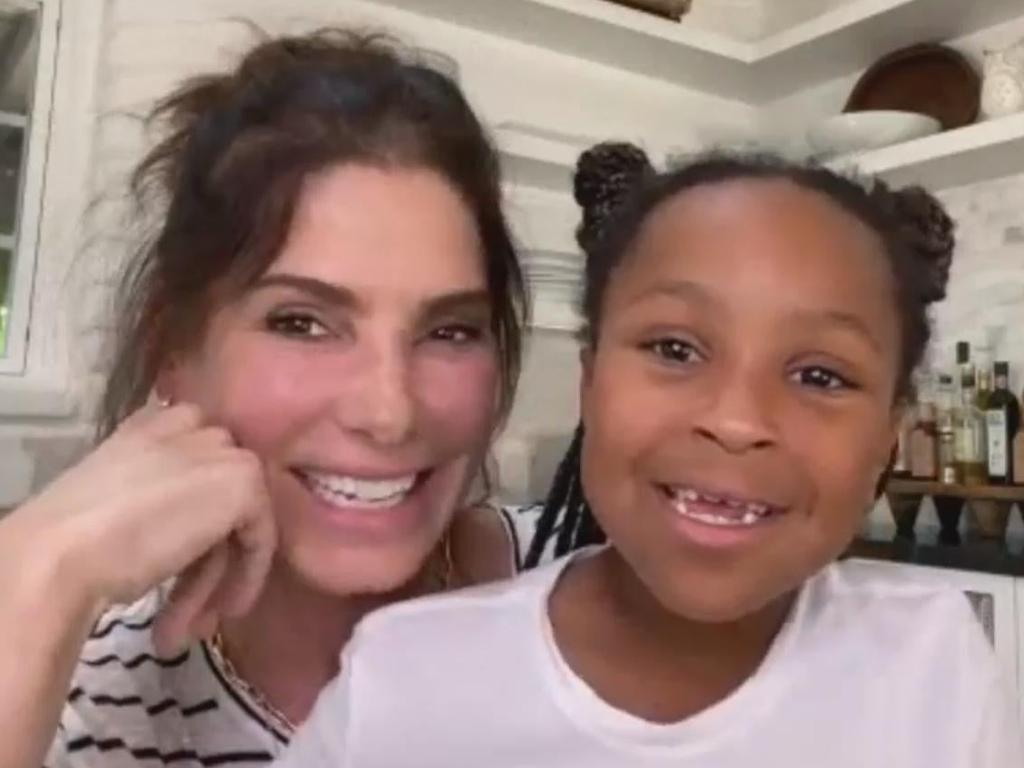 Sandra Bullock and daughter, Laila, who was casually introduced to the world this year after being kept out of the public eye. Picture: Instagram