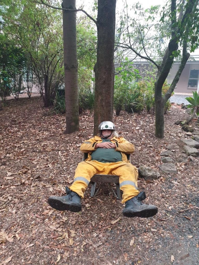 Rural Fire Service volunteer Carl Foster during the 2019/2020 bushfire season.