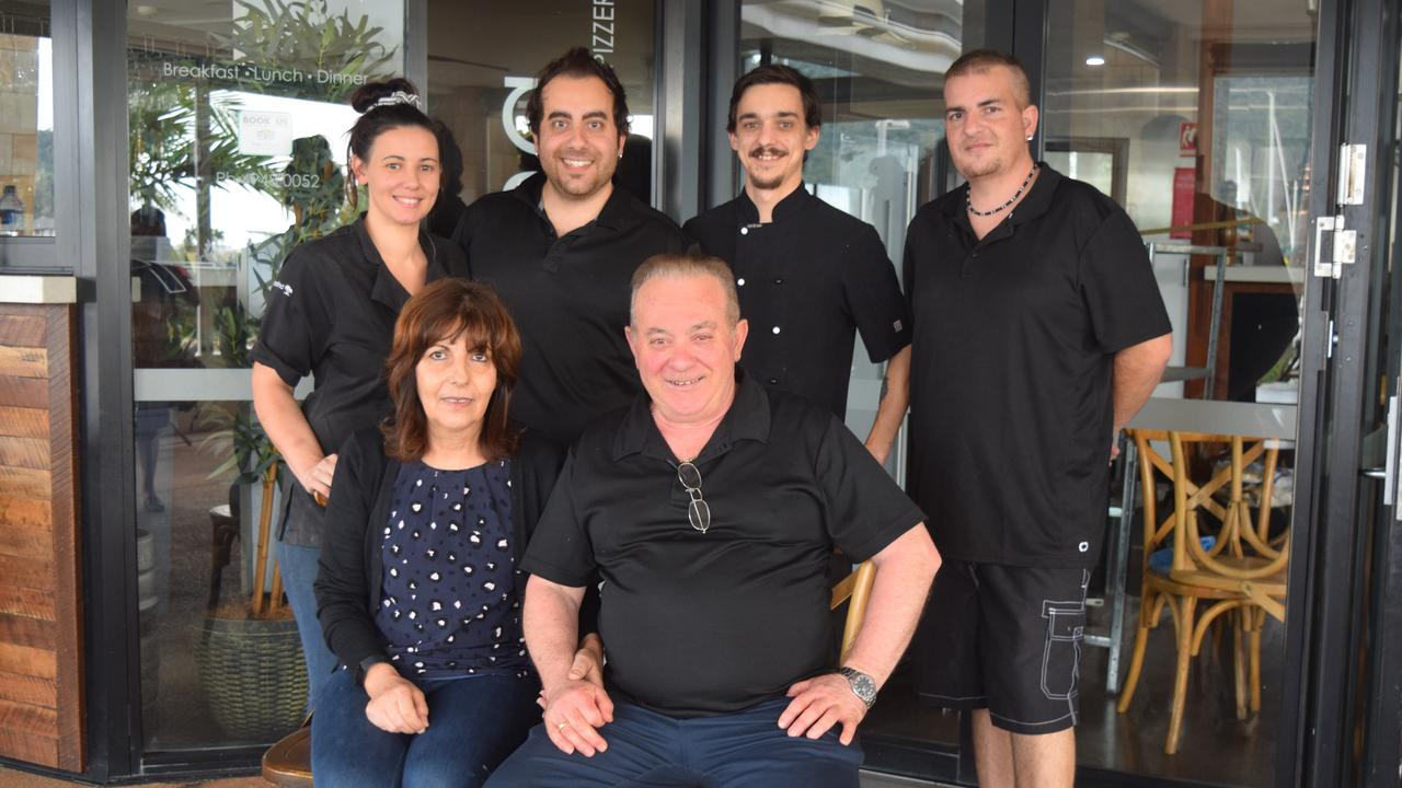 YOU'RE WELCOME: The team at La Marina (back, left to right) Deanna and Joe Panuccio, Jordan Saunders and Vince Panuccio (front) Deanna and Angelo Panuccio.