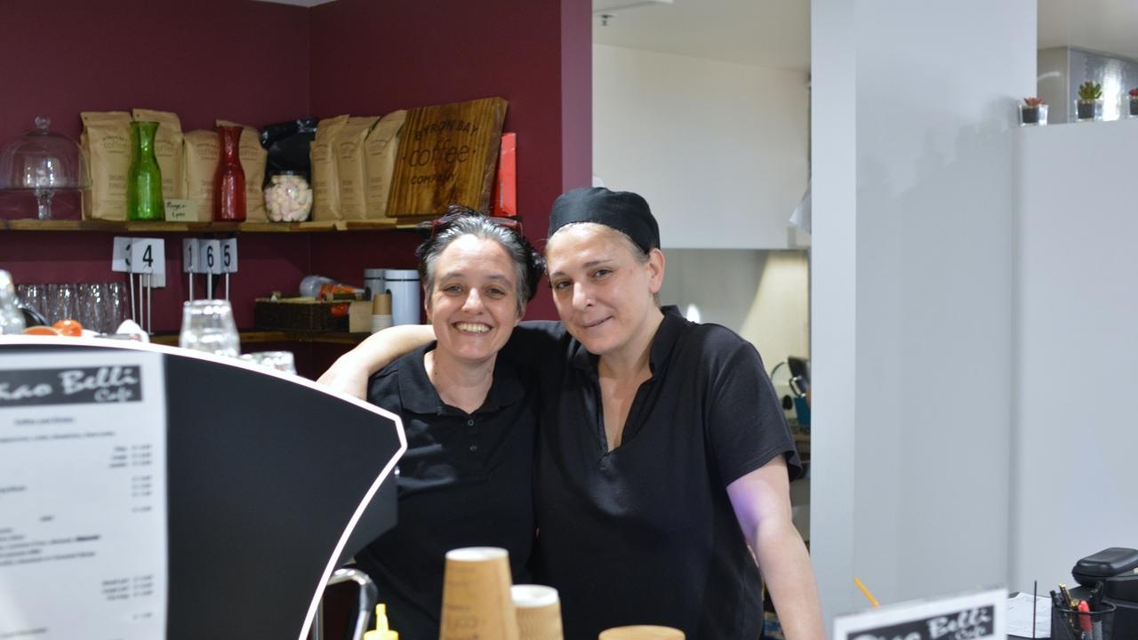 Ciao Belli Cafe owners Daniela Macheda and Sabrina Scarpulla.