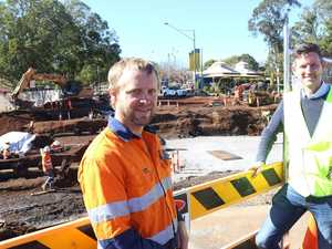 Historic discovery at Toowoomba roadworks site