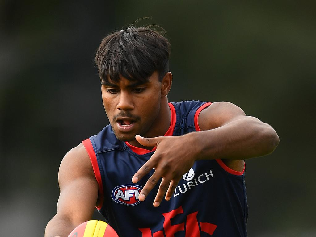 Melbourne Demons player Kysaiah Pickett.