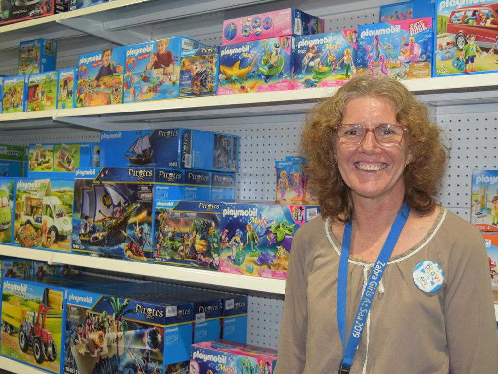 Let the Children Play Toyshop owner Ally Blines with some of large variety of Playmobil toys that are exclusive to the store.