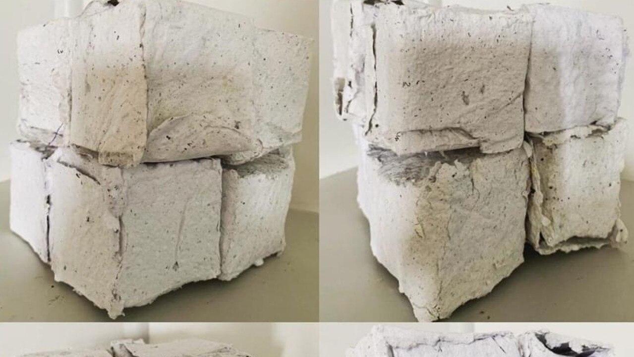 CREATIVE: Melissa Peacock's handmade paper boxes.