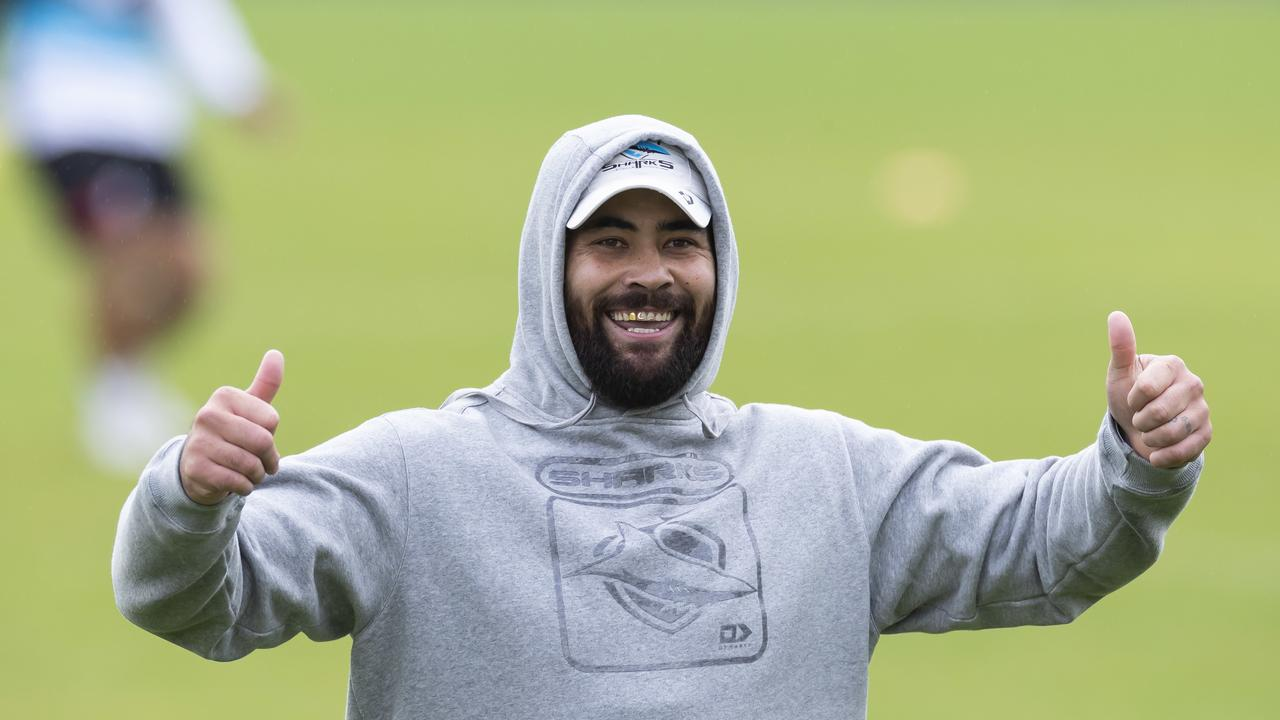Sharks will welcome back stars Andrew Fifita and Chad Townsend from injury. Picture: AAP.
