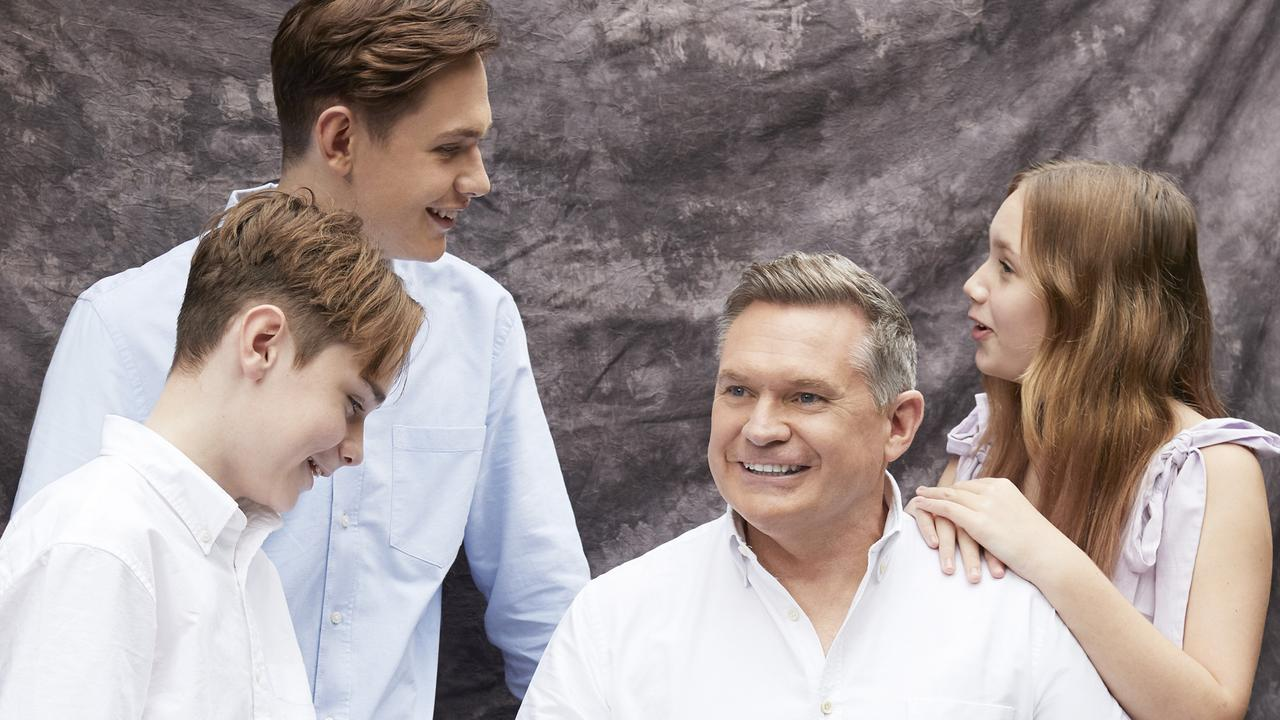 Michael Usher and his three children. (Picture: Daniel Nadel for Stellar)