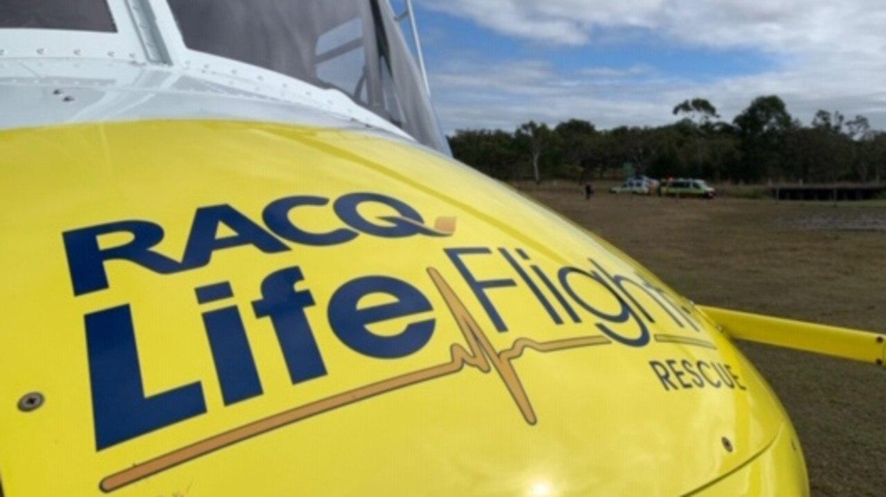 RACQ LifeFlight Rescue helicopter. Photo: File photo courtesy of RACQ LifeFlight