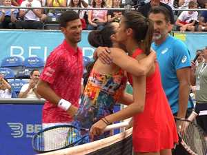 Djokovic charity event ignores COVID fears to play to crowd