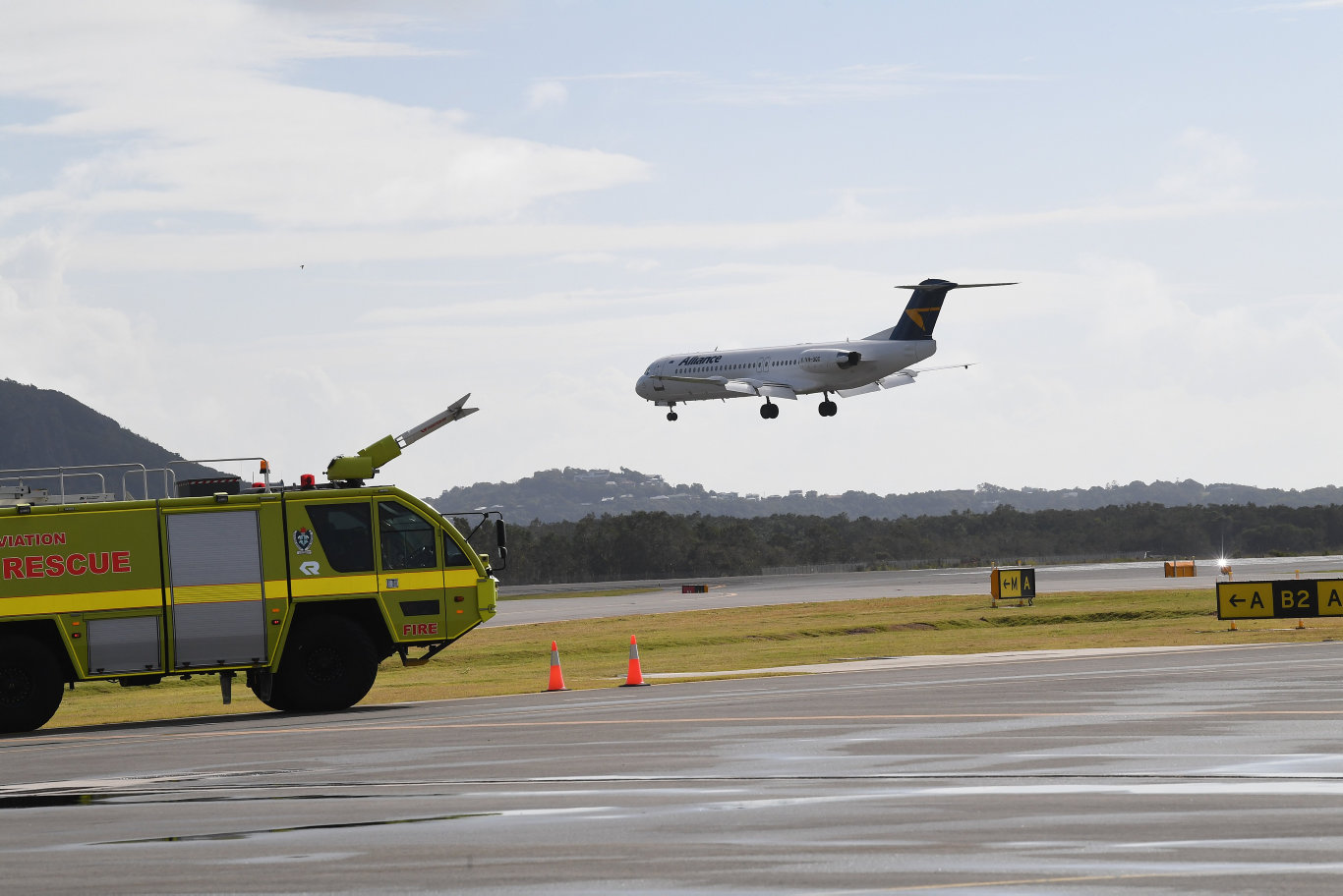 After more than 11 weeks since closing its terminal and farewelling its last passenger jet, Sunshine Coast Airport is now set to welcome the arrival of the first flight on its new runway which will officially open on Sunday.An Alliance Airlines Fokker 100 will be the first to touchdown on the tarmac, with the aircraft expected to land from west-east on the new 2450m x 45m runway at approximately 9.30am, subject to weather conditions and operational considerations on the day.