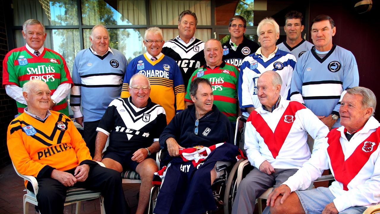 Noel Kelly (frontrow, Wests jersey) wasn't out of place among the game's very best.