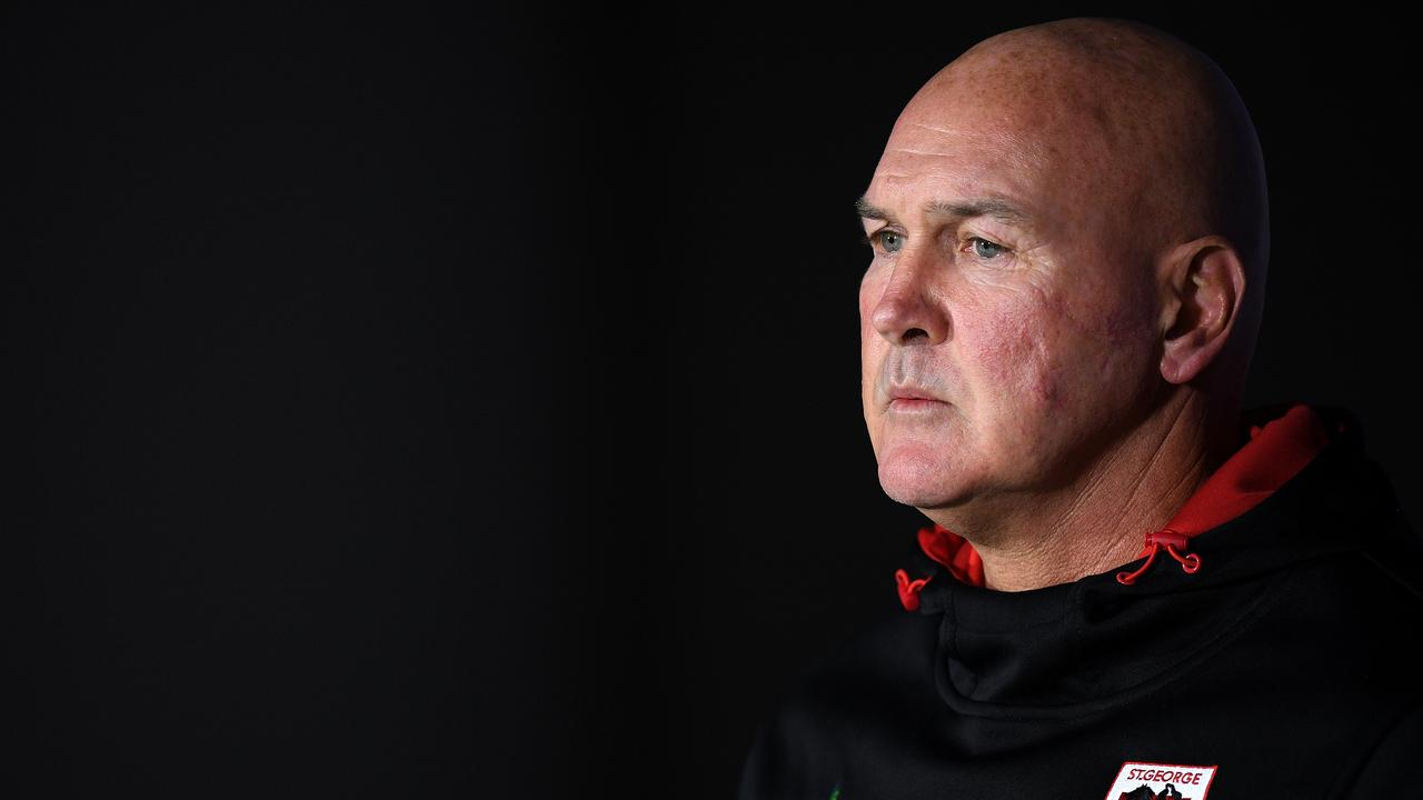 Dragons coach Paul McGregor's future is far from certain. Picture: Dan Himbrechts/AAP
