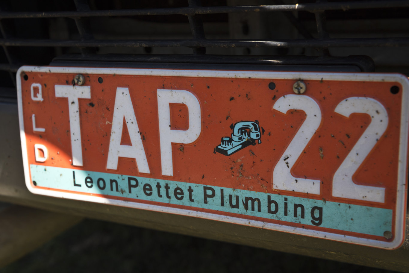 A number plate on one of the Leon Pettet Plumbing vehicles after they are named the best plumber in The Chronicle's 2020 Best of Toowoomba series, Monday, June 15, 2020. Picture: Kevin Farmer