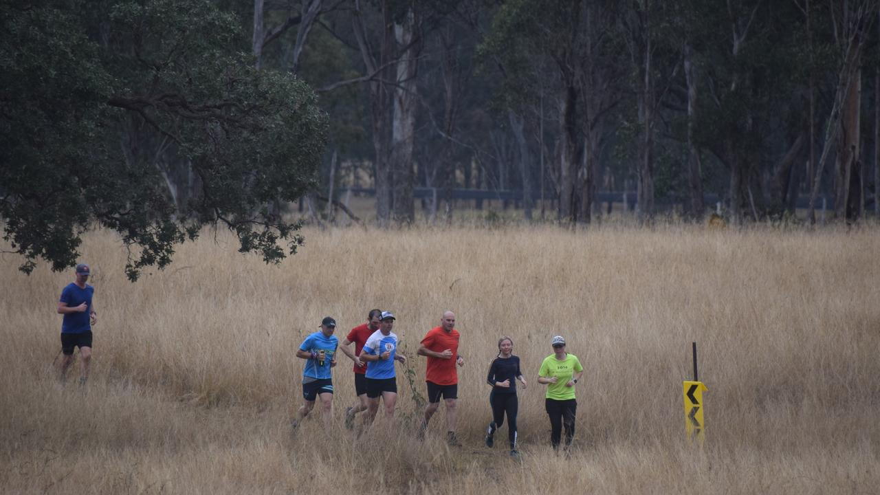 TRAINING RUN: Runners moving through their third loop of the Dead Cow Gully circuit. (Picture: Tristan Evert)