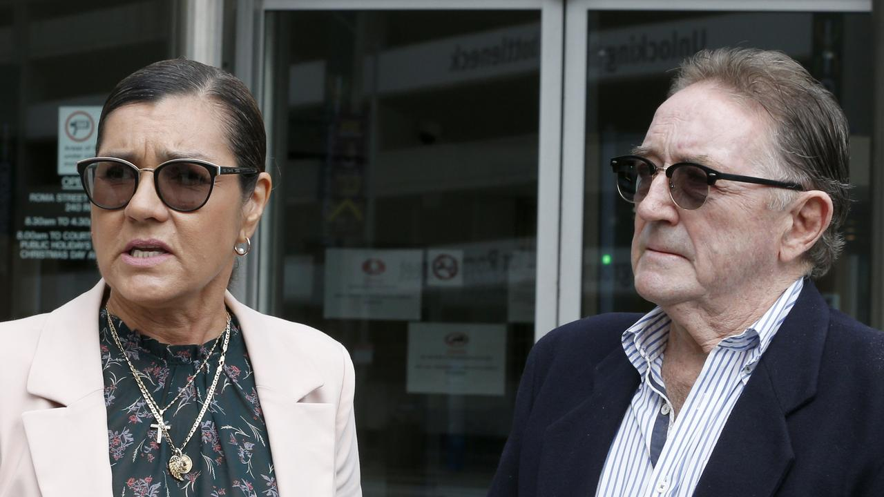 Rose Christian and Graham Robertson outside a Brisbane court in Marsh after a hearing related to their son Charlie Robertson, 19, who died from a drug overdose on March 13, 2015 on the Gold Coast. Picture: Steve Pohlner