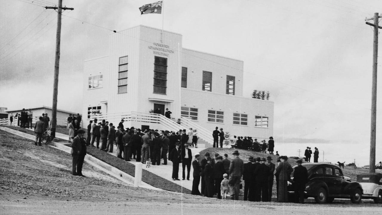 The official opening in the 40s