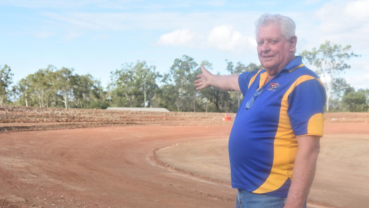 Work in progress: Benaraby Speedway vice-president Neil Smith says funding for the speedway's completion has been steady, but more help is needed to get it finished.