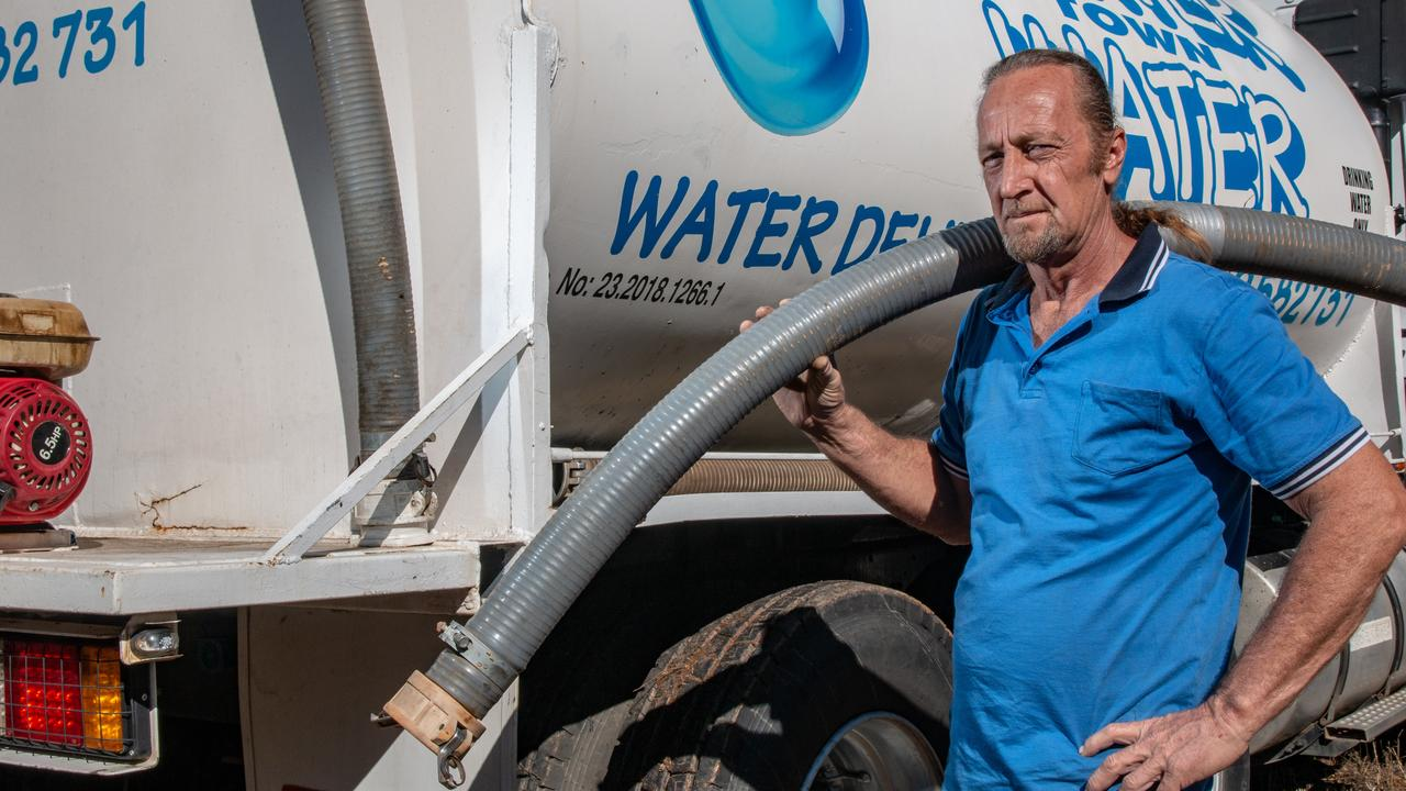 DRY: Lockyer Town Water owner Mick Lutton says he's found some residents going two weeks without water, as the drought continues to bite. Picture: Dominic Elsome