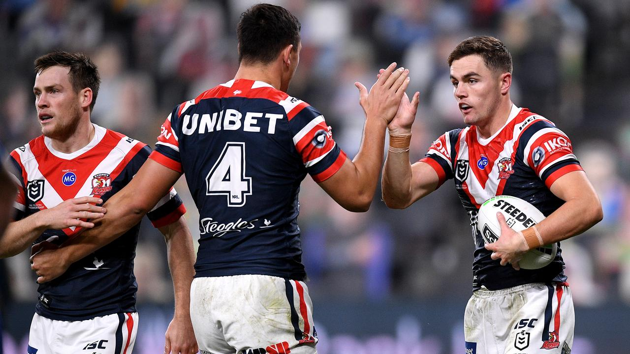 The Roosters ran them off the park. AAP Image/Dan Himbrechts.
