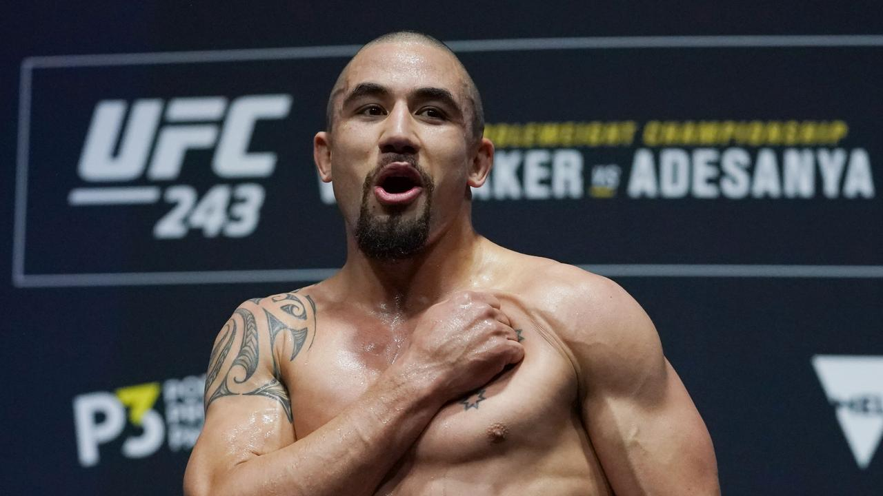 Robert Whittaker is ready to start his path back to the top.