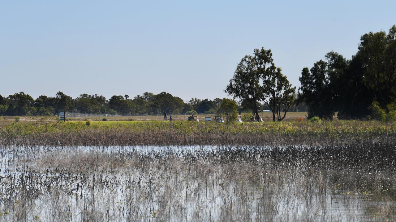 Murray Lagoon near the Botanic Gardens and Rockhampton Golf Club taken this month.