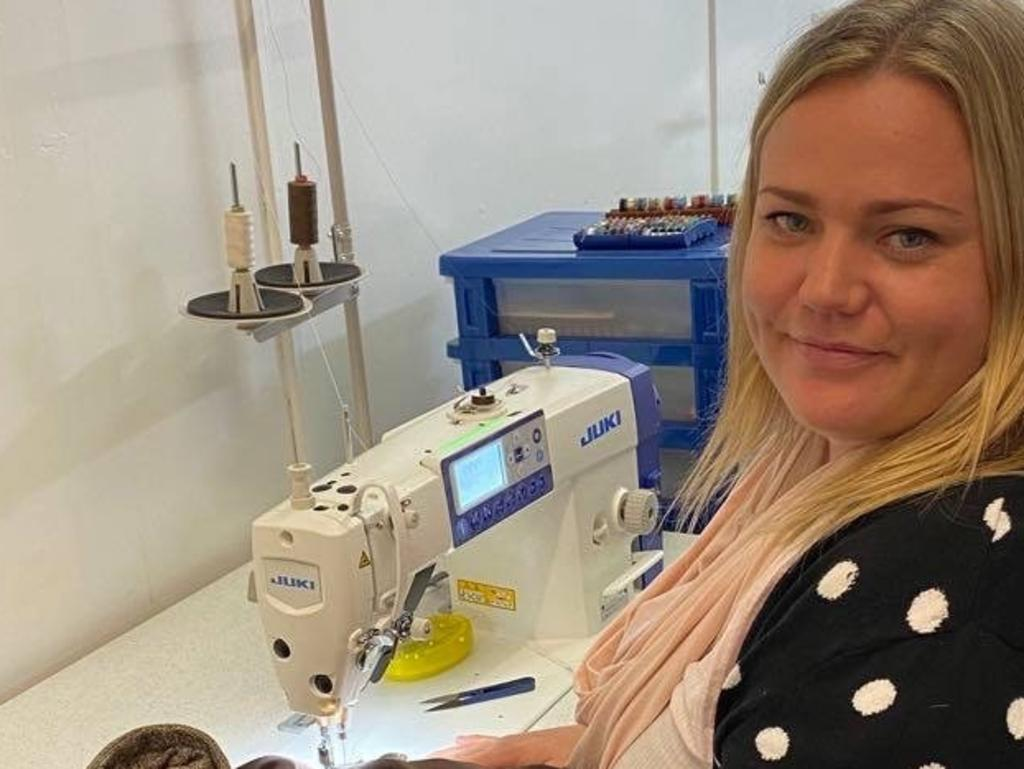 Hal Cut Clothing Co owner Carlie Glassey has opened the new tailoring business in collaboration with Half Cut Barber Shop in Kyogle.