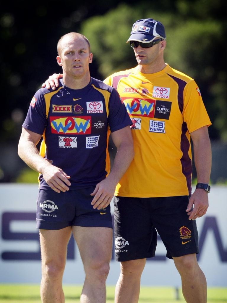 Peter Ryan, seen with Darren Lockyer, is a defence guru.