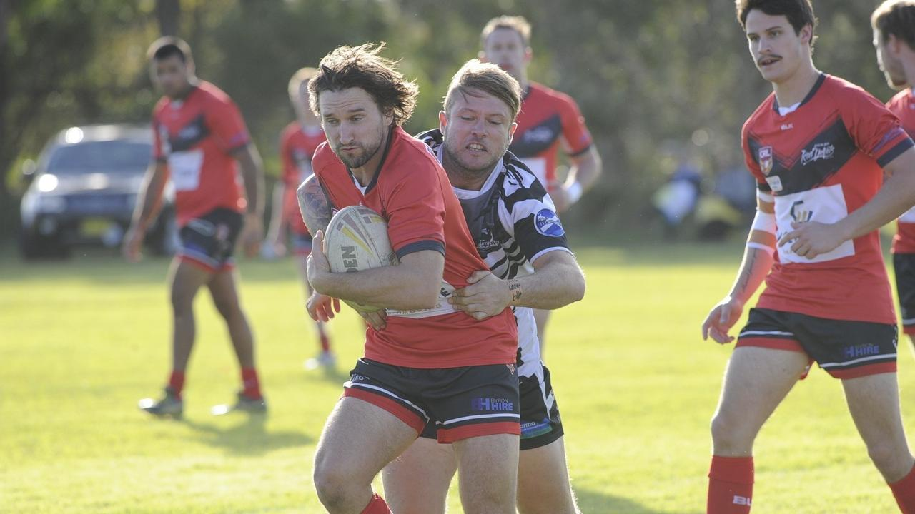 Byron Bay halfback Ryan O'Connell led from the front as captain-coach at the Red Devils. Photo Debrah Novak.