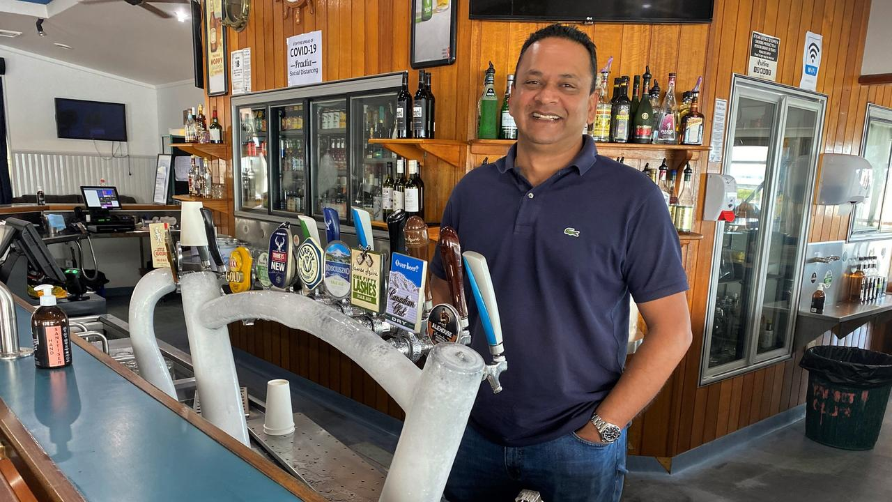 Gladstone Yacht Club Bar and Restaurant operator Salesh Ramswarup is happy to be open and welcoming back the community.