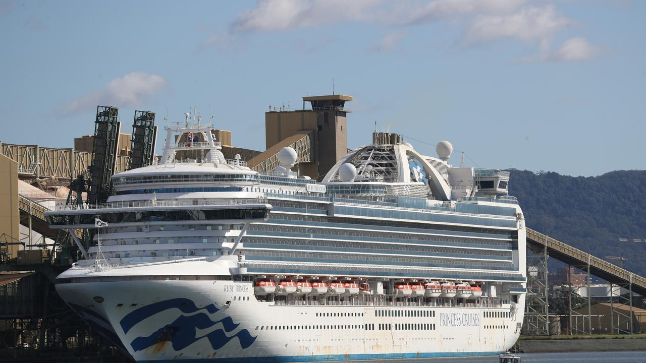 The Ruby Princess docked at Port Kembla. Picture: John Grainger