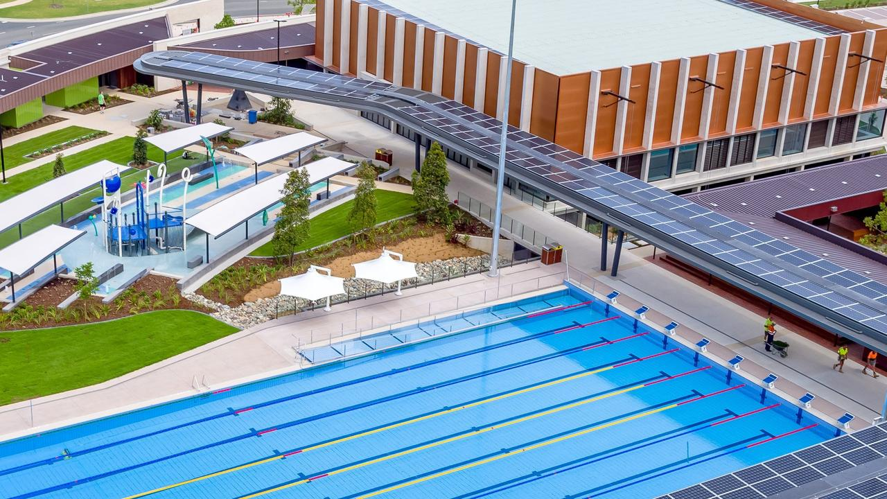 Aerial view of the Gympie Aquatic Recreation Centre