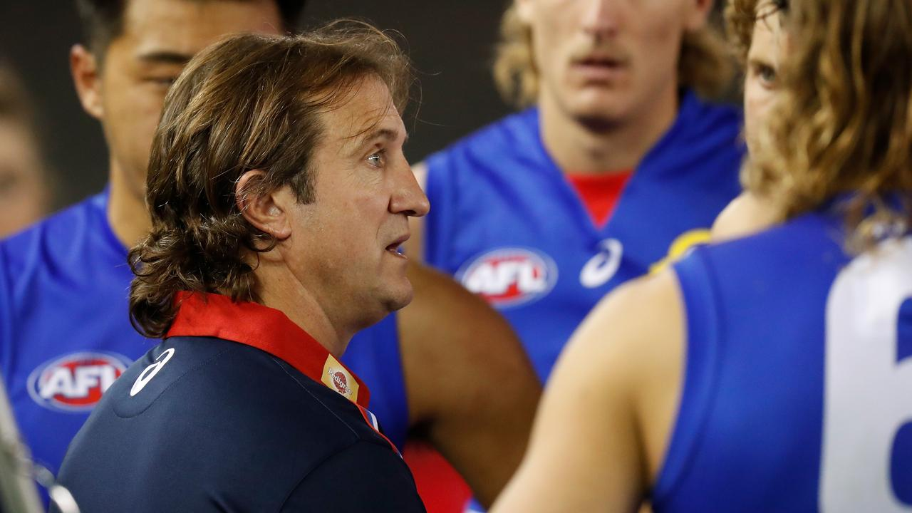 Coach Luke Beveridge needs to find a way for his team to kick more goals. Picture: Getty