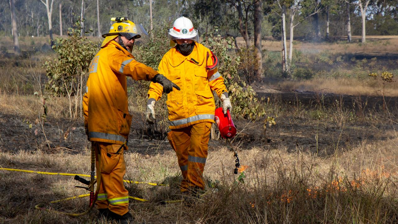 ALL IN ONE: Queensland Rural Fire Service is now combining training and hazard reduction burns together in order to be ready for this year's fire season. Picture: Dominic Elsome