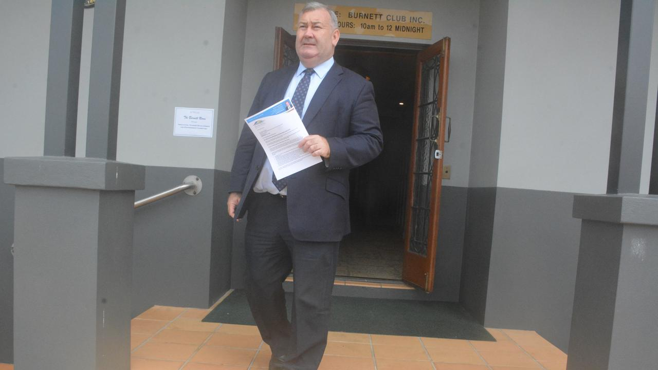 Bundaberg Mayor Jack Dempsey is a former state cabinet minister familiar to the parliamentary process. He is pictured leaving a Mon Repos parliamentary hearing, where he spoke as a witness. Picture: Chris Burns.