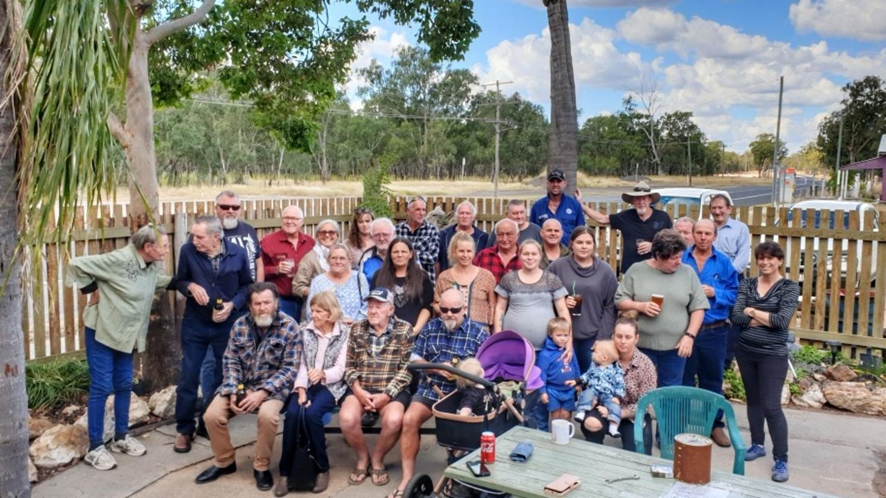 FAREWELL: Friends gathered for farewell drinks at the Kogan Hotel on Monday, June 8, in celebration of Robert Taylor's life. Pic: Supplied
