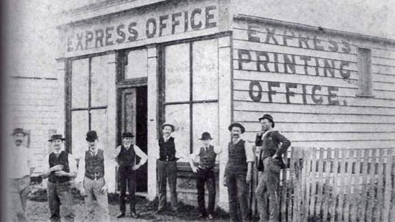 The Express office. date of photo unknown. PIC: CASINO & DISTRICT HISTORICAL SOCIETY ARCHIVES