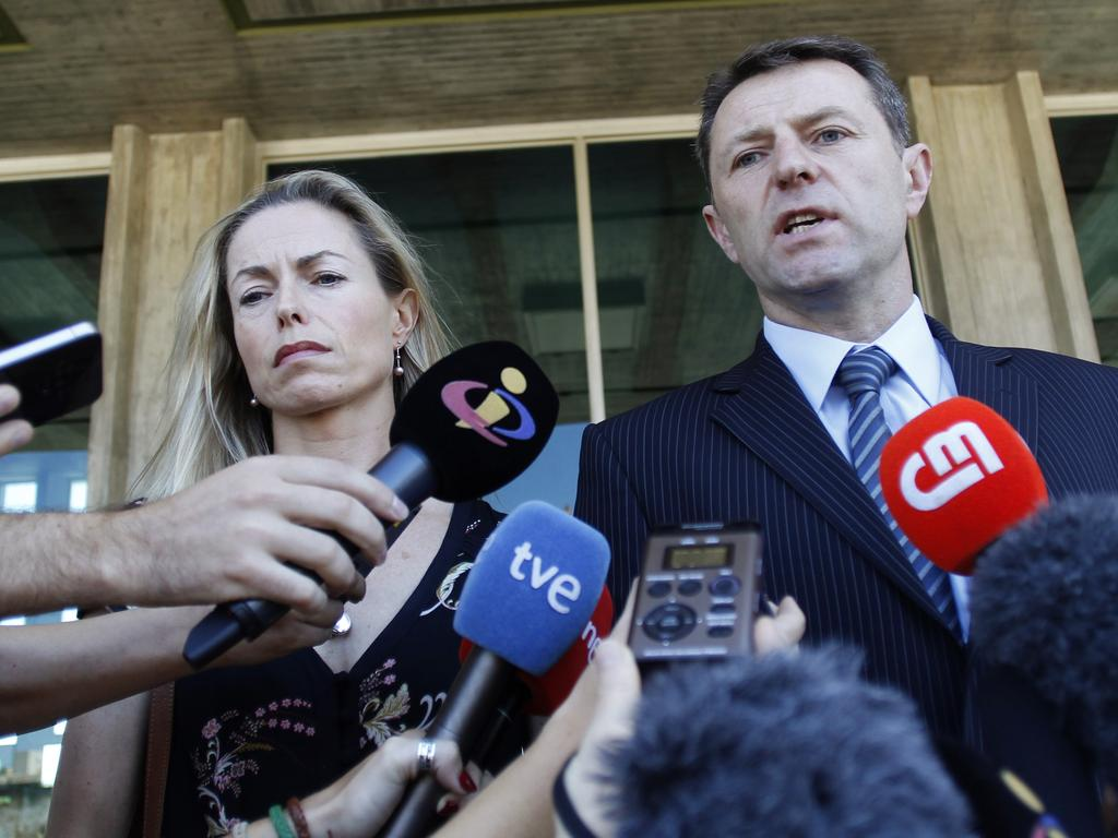 Kate McCann, left, and Gerry McCann. Maddie's mum has long suspected that hotel staff were in on the break and enter into her apartment. Picture: AP Photo/Francisco Seco