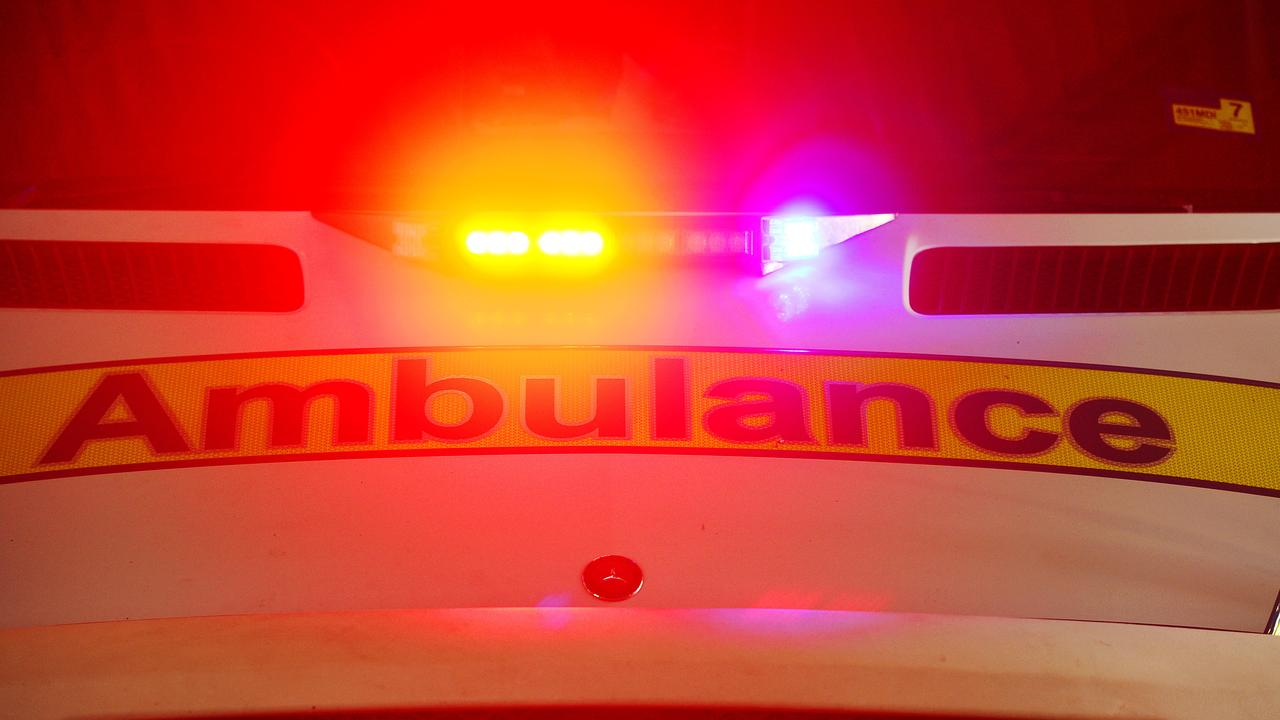 A man has been hit by a truck on the Bruce Highway.