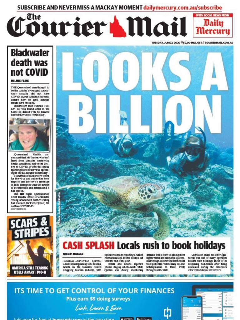 New-look Mackay edition of the Courier-Mail.