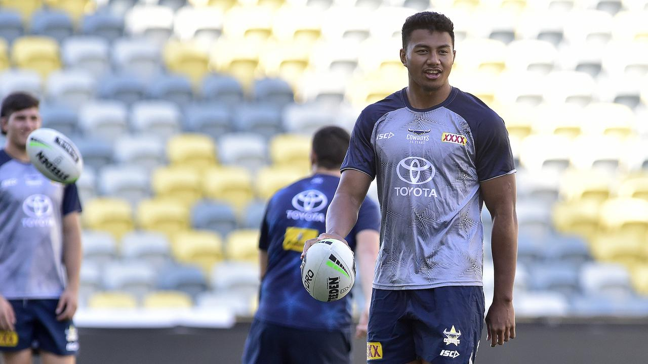 North Queensland youngster Peter Hola will join the bench this week. Picture: Matt Taylor.