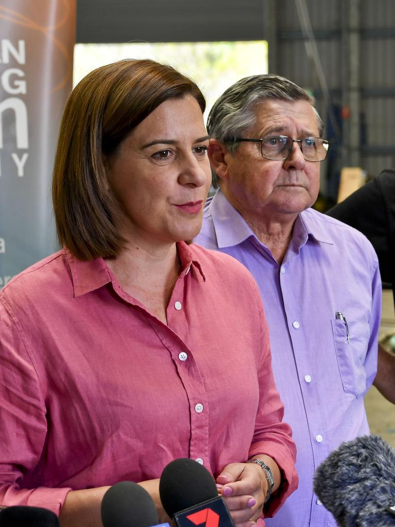 Opposition leader Deb Frecklington with Hervey Bay MP Ted Sorensen.