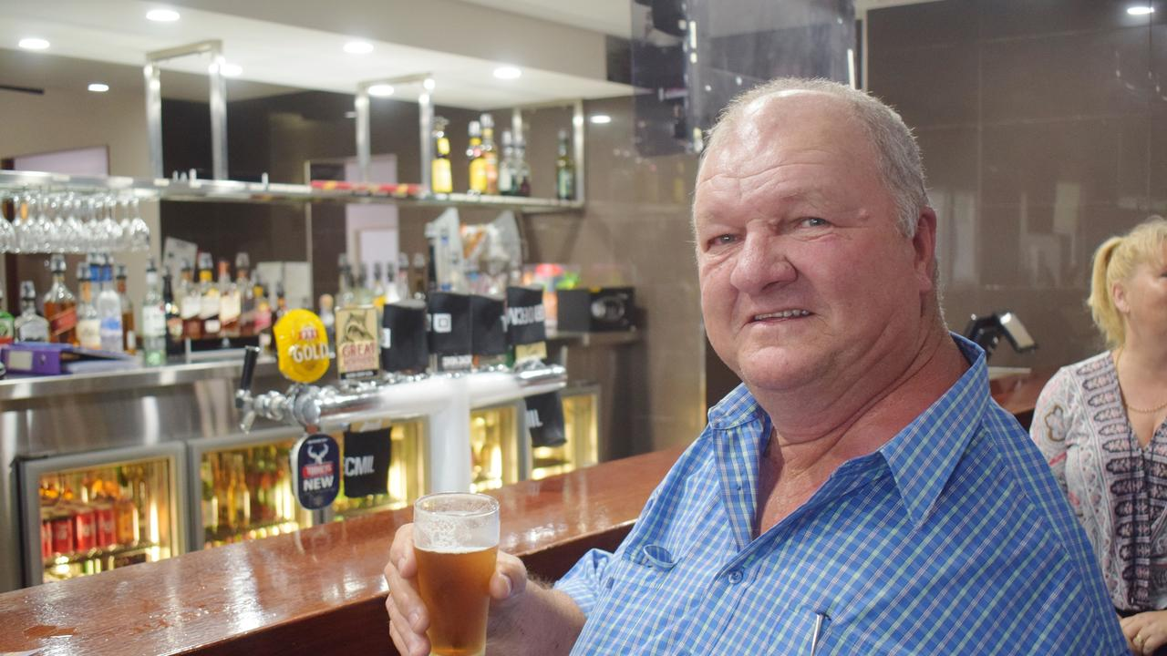 SECOUND BEER: Chinchilla local Don Hart enjoys a cold one after a long lockdown.