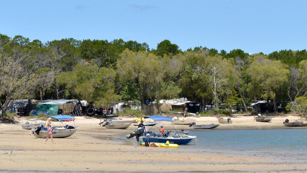 Campers at Inskip Point before COVID-19 restrictions. Picture: Tanya Easterby