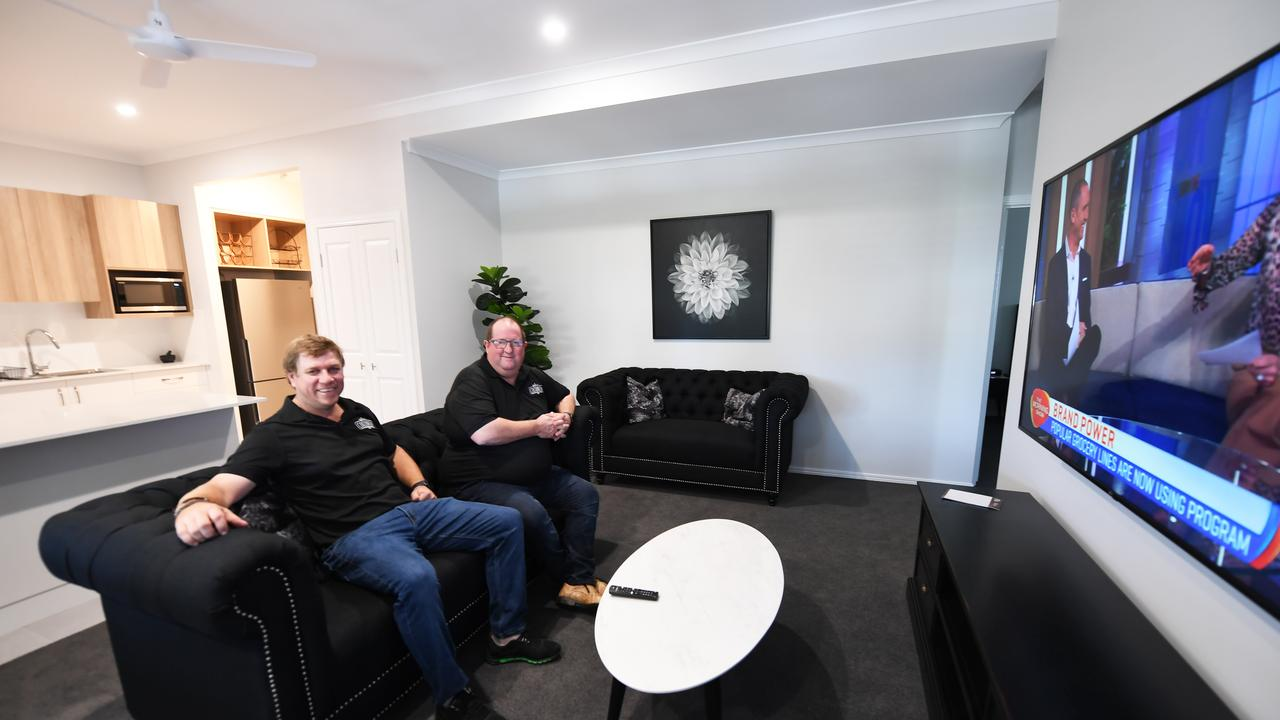 Robin Adams and Grant Collins at Cocobrew's new boutique apartments.