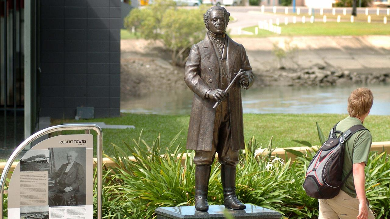 Statue of Robert Towns in Townsville. . Pic CameronLaird