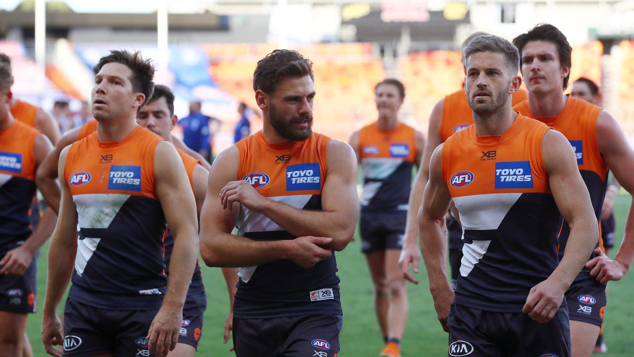 GWS players will share their flight down to Melbourne with the Swans players.