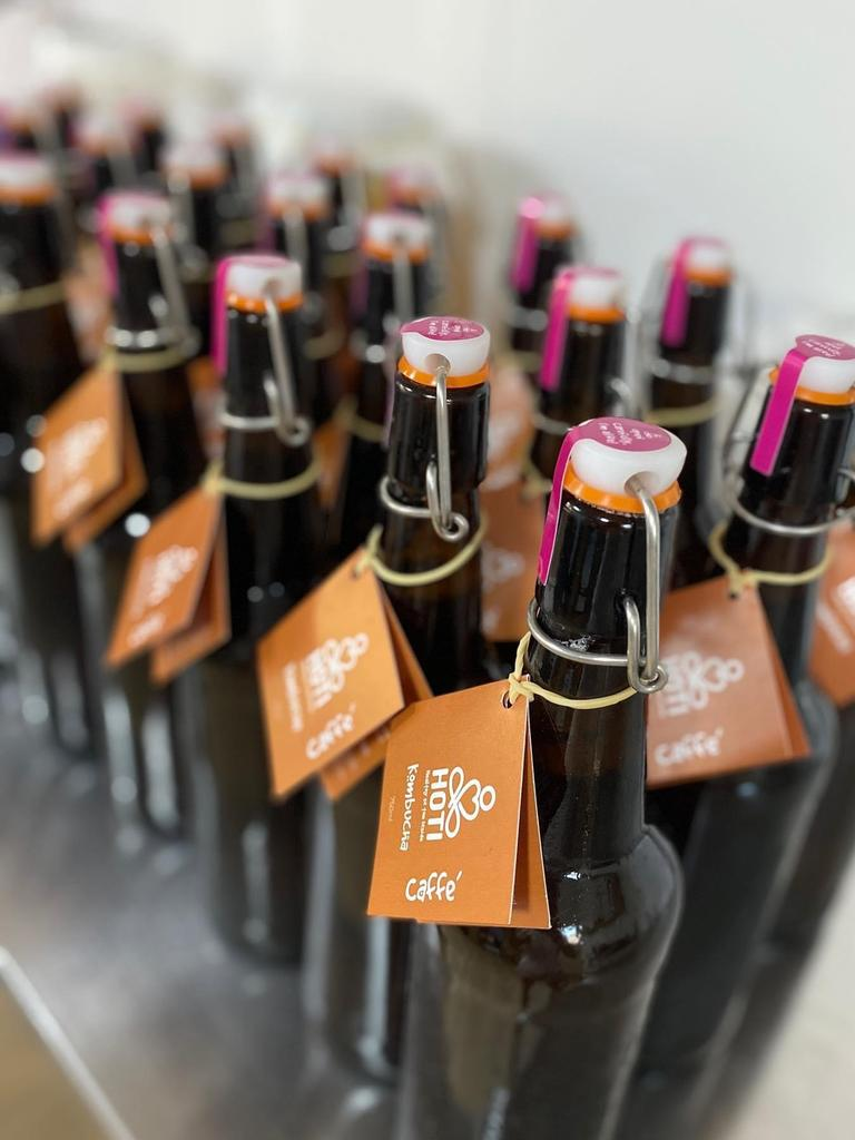 HOTI Kombucha owner Helen Tricarico has just released a brand new flavour called Caffe and has teamed up with local coffee brewer Kadilly Coffee to perfect the iced-coffee taste.